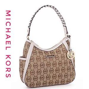 New Michael kors fabric signature shoulder bag